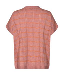 Jersey rosa con brillo de punto fino de Nümph