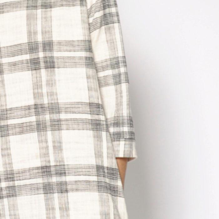 vestido crudo de cuadros grises de PAN