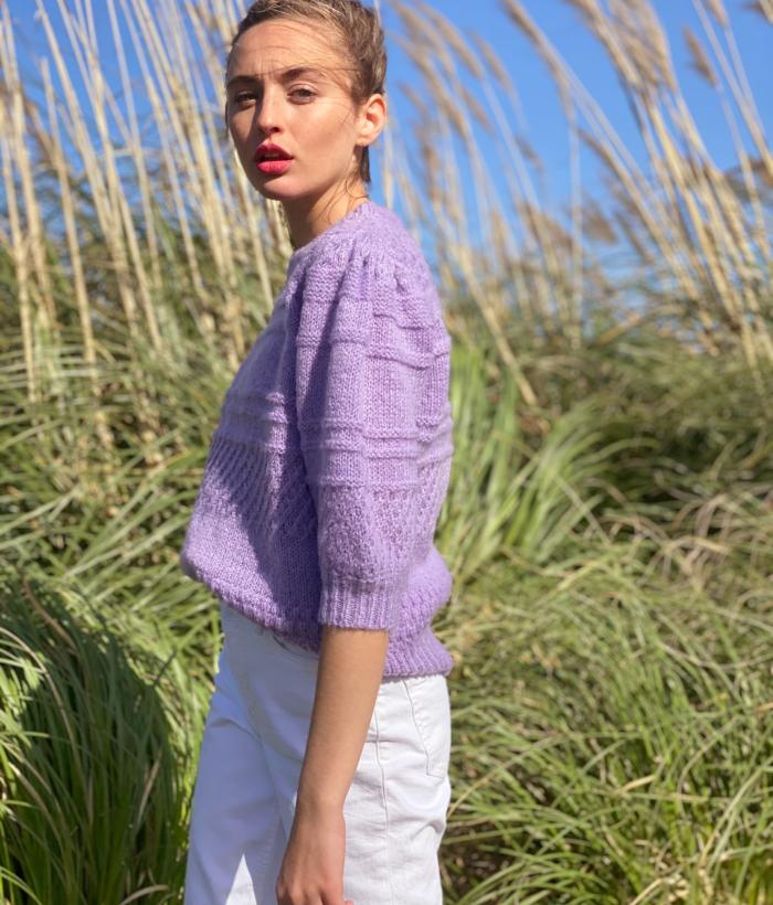 jersey lila manga corta de FRNCH