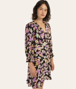 vestido corto de flores de Frnch