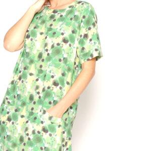 vestido verde de manchas, de PAN