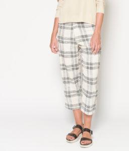 pantalón de cuadros de algodón