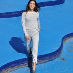 Pantalón palazzo color azul