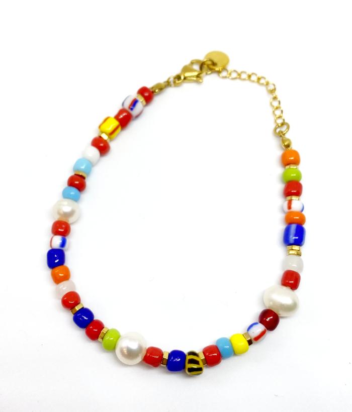 pulsera de piedras de colores