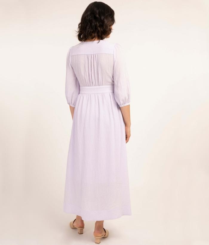 vestido largo color lila