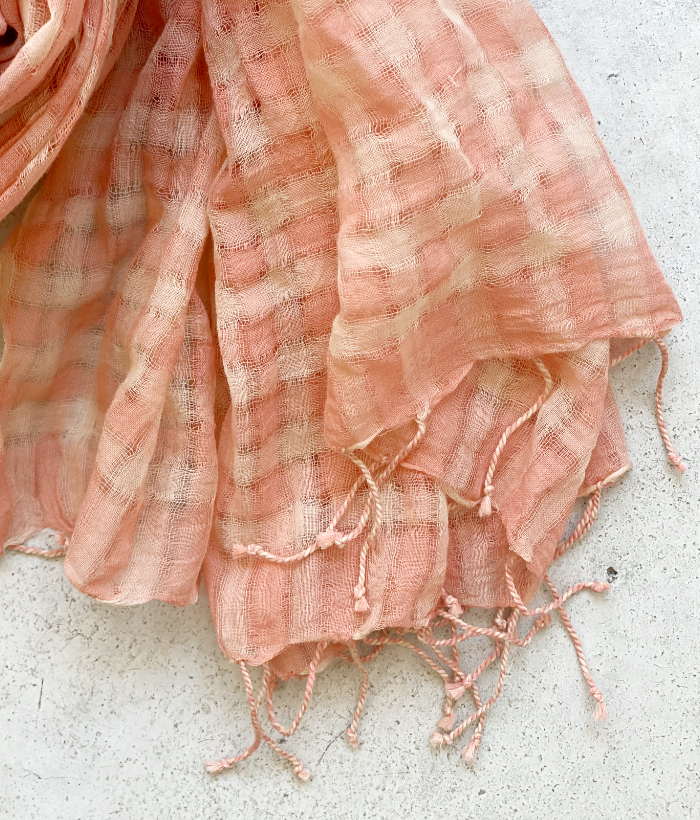 foulard rosa de cuadros