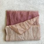 fourlard rosa y beige aguas de lino
