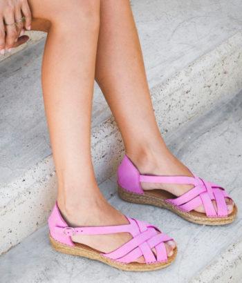alpargatas-pie-rosa de Naguisa