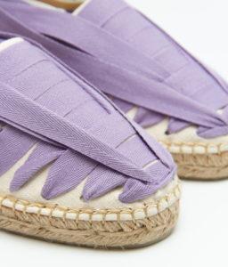 alpargata de piel color lila