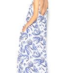 vestido largo estampado algas