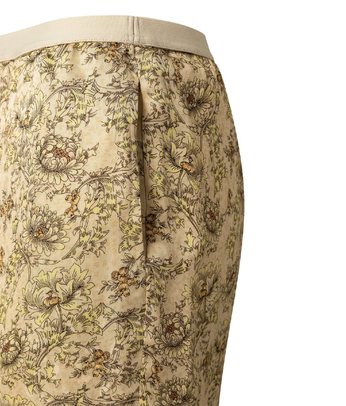 pantalón de flores de viscosa