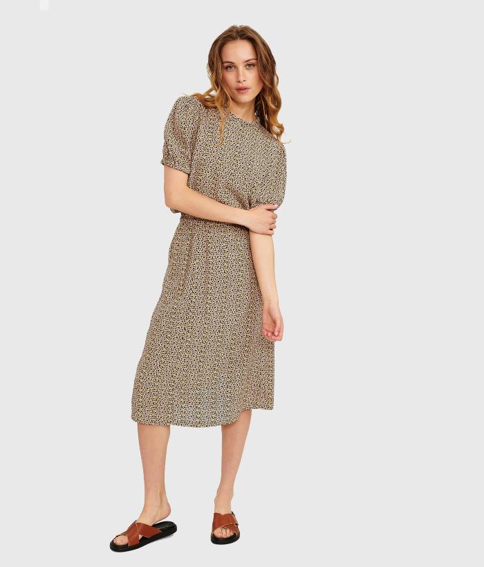 falda midi co estampado print