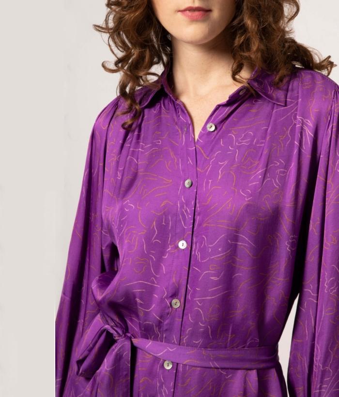 vestido lila siluetas de FRNCH