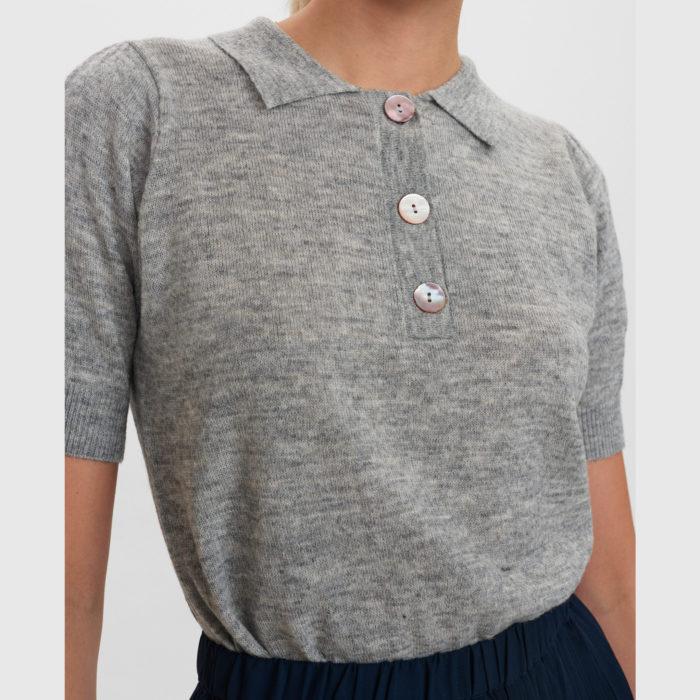 Jersey gris de manga corta de Nümph