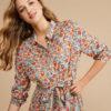 vestido midi de flores de Harris Wilson