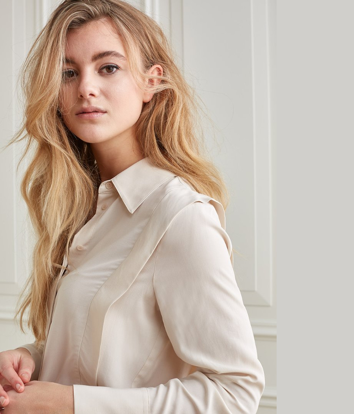 blusa cruda de lyoncell de YAYA