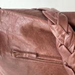 Bolso de piel marrón oscuro de BIBA