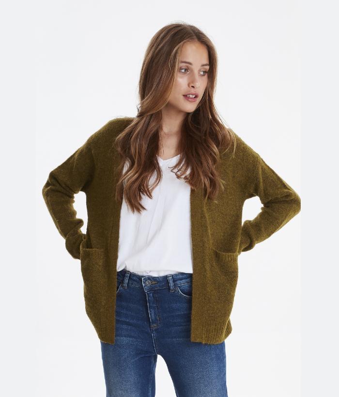 chaqueta verde oliva de ICHI