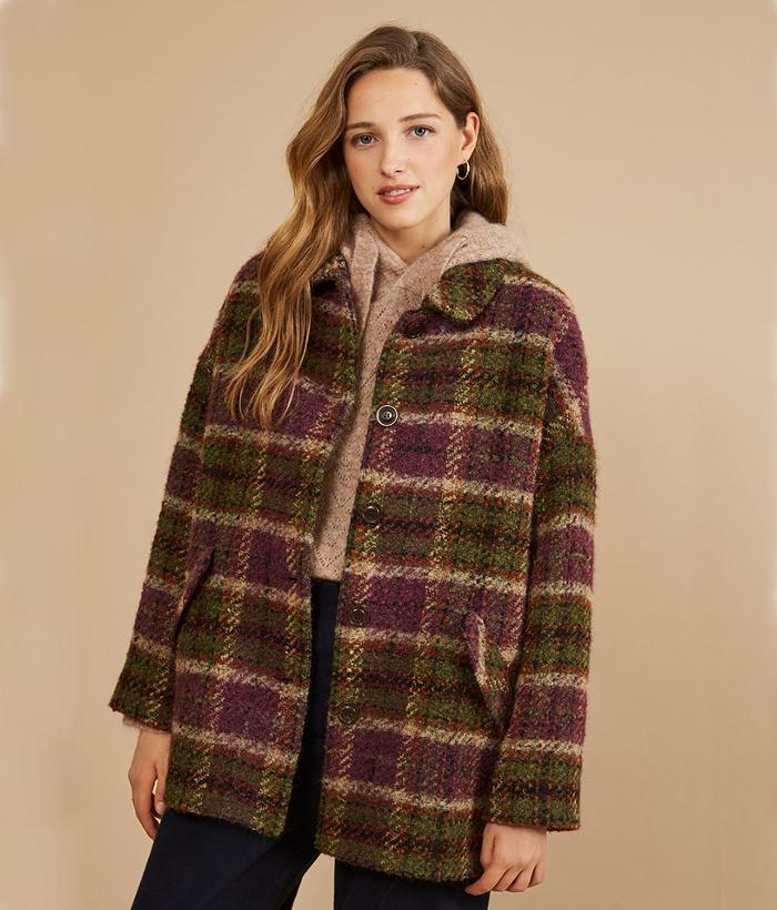 abrigo de cuadros de Harris Wilson