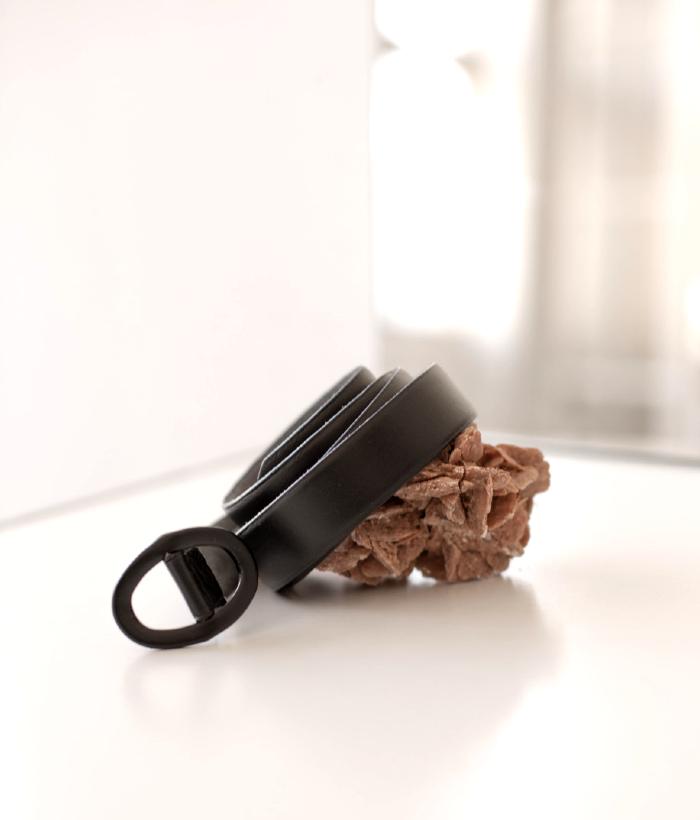 Cinturón de piel negro de Muss&bombón