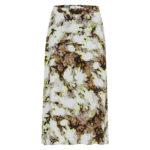 falda larga que flores y manchas de ICHI