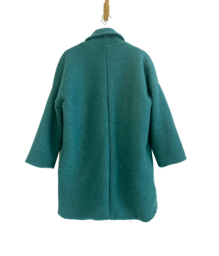 abrigo lana verde de PAN