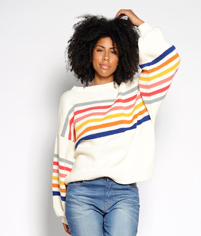 jersey de rayas de colores de PAN